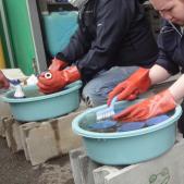 水道メーター清掃作業